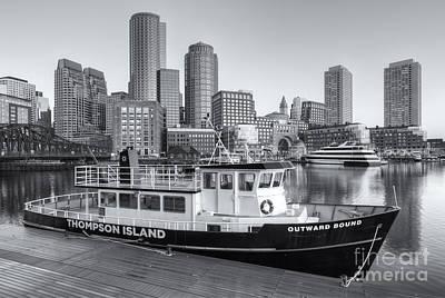 Boston Skyline And Thompson Island Ferry II Poster