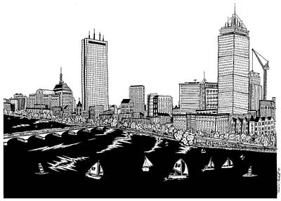 Boston Skyline Back Bay Poster by Conor Plunkett