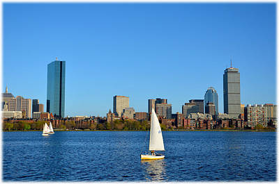 Poster featuring the photograph Boston Skyline Back Bay View by Amanda Vouglas