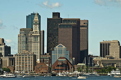 Poster featuring the photograph Boston Skyline by Caroline Stella