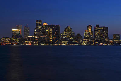 Boston Skyline From East Boston Poster by Toby McGuire