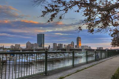 Boston Skyline On The Charles River Poster by Joann Vitali