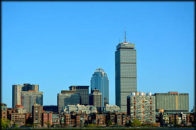 Poster featuring the photograph Boston Skyline Prudential Tower by Amanda Vouglas