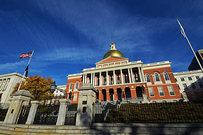 Boston State House Poster by Toby McGuire