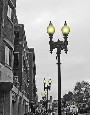 Poster featuring the photograph Boston Streetlamps by Cheryl Del Toro