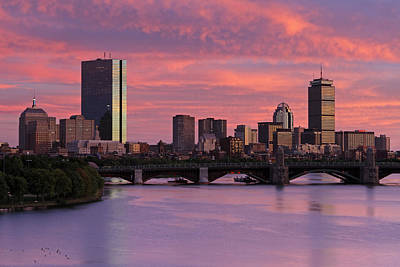 Boston Sunset Poster by Juergen Roth