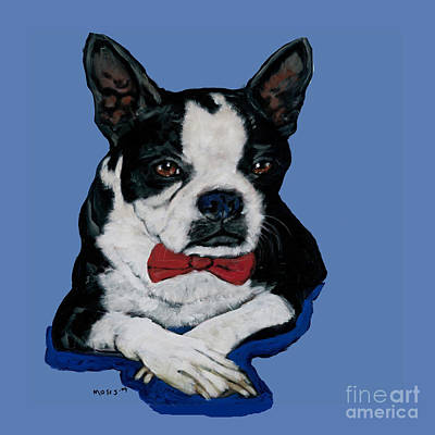 Boston Terrier With A Bowtie Poster