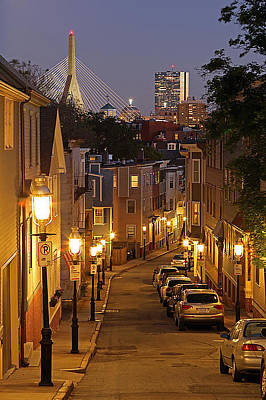 Boston View From Charlestown Poster by Juergen Roth