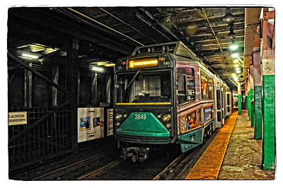 Boston's Mbta Green Line Poster by Mike Martin