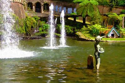 Botanical Gardens Madeira Poster by Jon Delorme