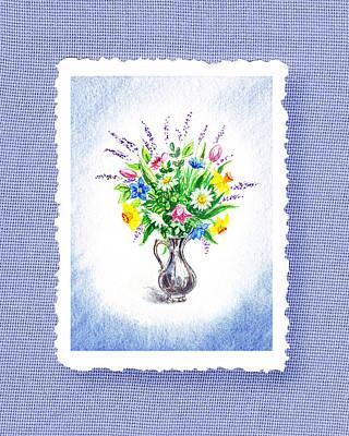 Botanical Impressionism Watercolor Bouquet Poster by Irina Sztukowski