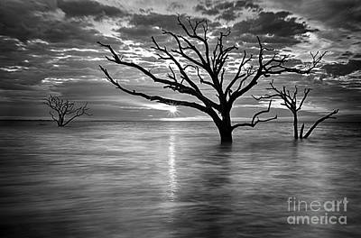 Botany Bay Sunrise 6 Black And White Poster