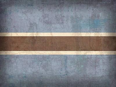 Botswana Flag Vintage Distressed Finish Poster by Design Turnpike