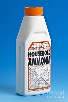 Bottle Of Household Ammonia Poster by Martyn F. Chillmaid
