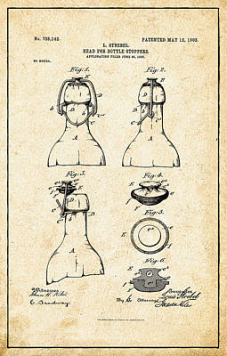 Bottle Stopper Patent Poster by Bill Cannon