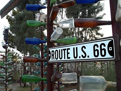 Bottle Trees Route 66 Poster