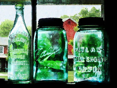 Bottles And Canning Jars Poster by Susan Savad