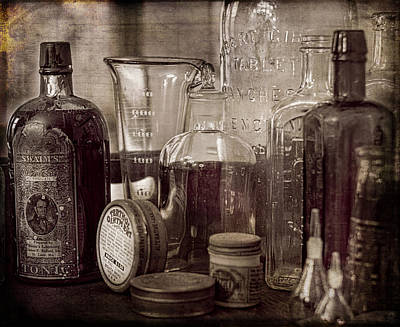 Bottles And Tins Poster