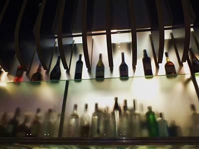 Bottles At The Bar Poster