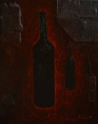 Poster featuring the painting Bottles by Shawn Marlow