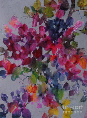 Poster featuring the painting Bougainvillea by Michelle Abrams