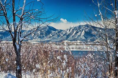 Boulder Colorado Winter Season Scenic View Poster