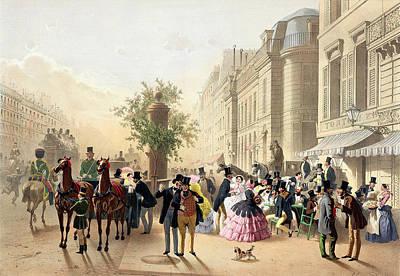 Boulevard Des Italiens From Physionomies De Paris Poster