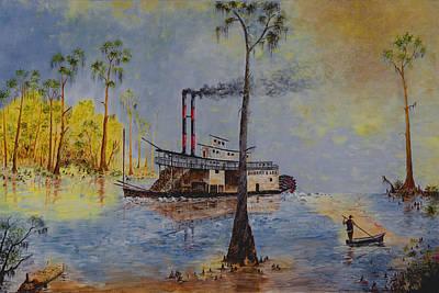 Bound For New Orleans Bayou Saint John Louisiana Poster by Richard Barham