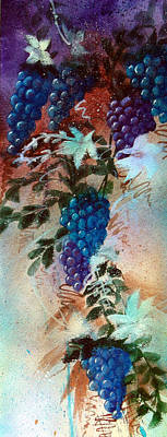 Bountiful Vines Poster by Zelma Hensel