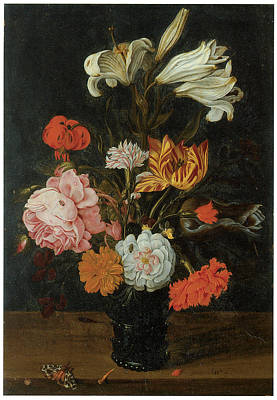 Bouquet In A Roemer Poster by Jan Baptist Van Fornenburgh