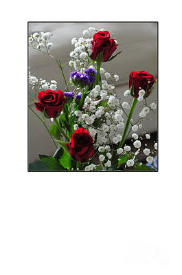 Bouquet In Red White And Blue Poster