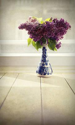 Bouquet Of Fresh Lilacs Poster by Jaroslaw Blaminsky