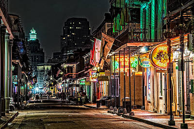 Bourbon Street Glow Poster by Andy Crawford