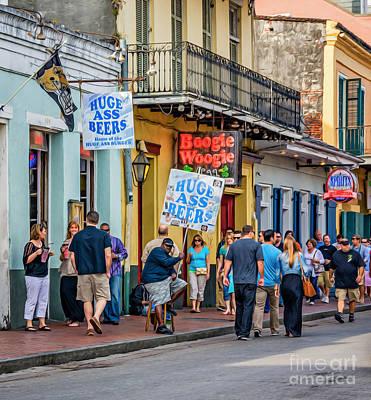 Bourbon Street - Let The Good Times Roll Poster by Steve Harrington