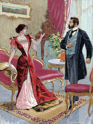 Bourgeoisie Gentleman With A Lady Poster by Prisma Archivo