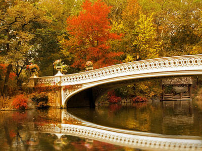 Poster featuring the photograph Bow Bridge Beauty by Jessica Jenney