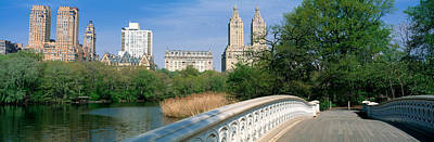 Bow Bridge, Central Park, Nyc, New York Poster by Panoramic Images