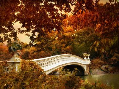 Bow Bridge Fall Fantasy Poster by Jessica Jenney