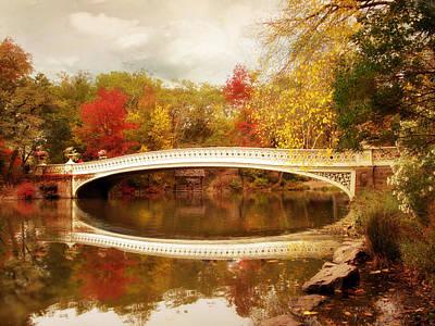 Bow Bridge Reflected Poster