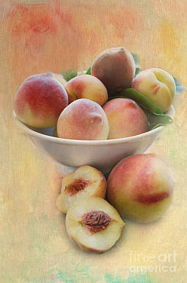 Bowl Of Peaches Poster