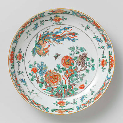 Bowl With Decoration Of Flowering Branches Poster by Litz Collection