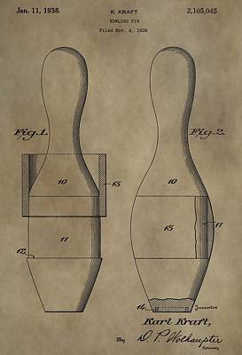 Bowling Pins Patent Poster by Dan Sproul