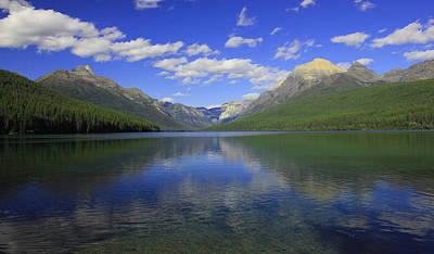 Poster featuring the photograph Bowman Lake Montana by Kathleen Scanlan