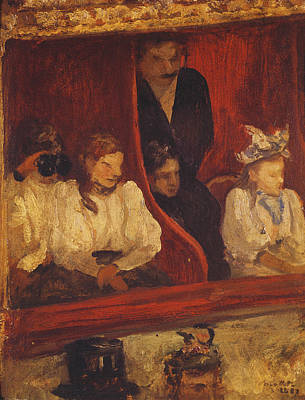 Box At The Opera-comique, 1887 Oil On Panel Poster