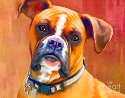 Boxer Dog Art Poster