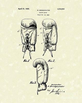 Boxing Glove 1925 Patent Art Poster