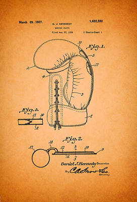 Boxing Glove Patent 1927 Poster by Mountain Dreams