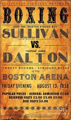Boxing Poster - 1858 Poster
