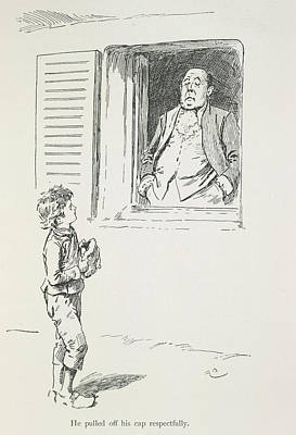 Boy And Man Poster by British Library