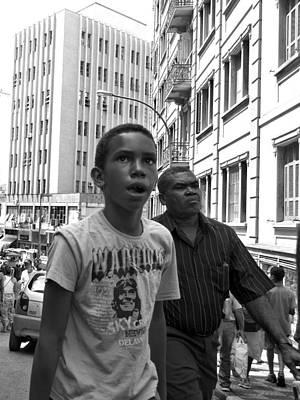 Boy In The Crowd - Sao Paulo Poster by Julie Niemela